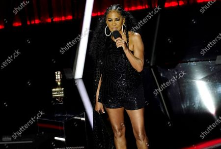 Stock Photo of Sheila E. presents the award for top song sales artist at the Billboard Music Awards, at the Dolby Theatre in Los Angeles