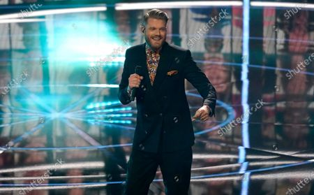 Scott Hoying, of the musical group Pentatonix, performs at the Billboard Music Awards, at the Dolby Theatre in Los Angeles