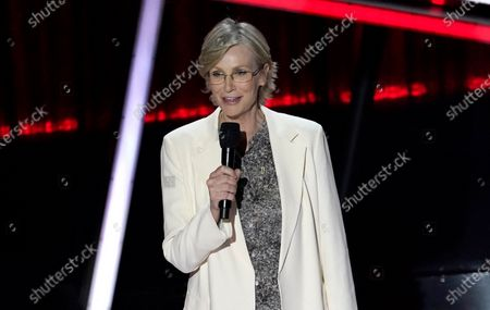 Stock Picture of Jane Lynch presents the award for top country artist at the Billboard Music Awards, at the Dolby Theatre in Los Angeles