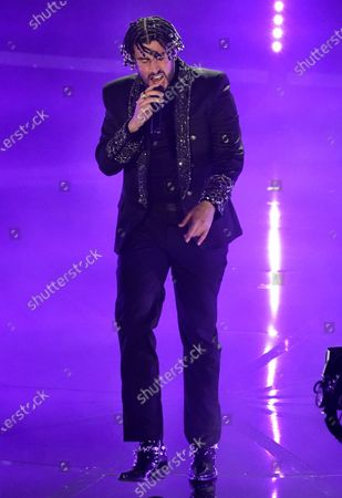 """Stock Image of Bad Bunny performs """"Yo Perreo Sola"""" at the Billboard Music Awards, at the Dolby Theatre in Los Angeles"""