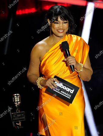 Stock Picture of Garcelle Beauvais presents the award for top Christian artist at the Billboard Music Awards, at the Dolby Theatre in Los Angeles