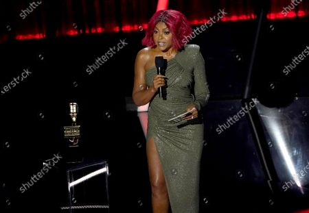 Stock Photo of Taraji P. Henson presents the top artist award at the Billboard Music Awards, at the Dolby Theatre in Los Angeles