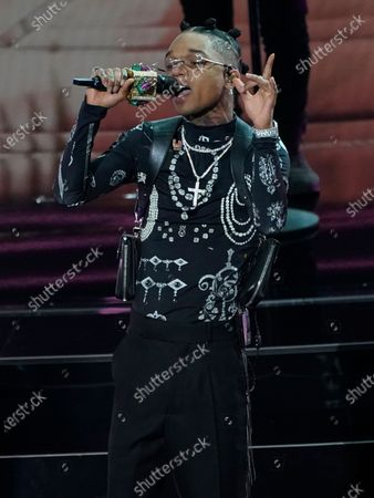 "Swae Lee performs ""Be Like That"" at the Billboard Music Awards, at the Dolby Theatre in Los Angeles"
