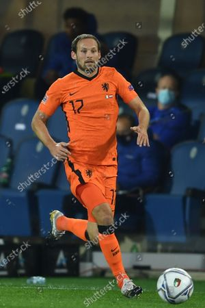 """Daley Blind (Netherlands)                       during the Uefa """"Nations League 2020-2021"""" match between Italy 1-1 Neterlands   at Gewiss Stadium in Bergamo, Italy."""