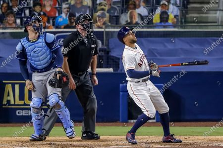 Editorial image of Tampa Bay Rays at Houston Astros, San Diego, USA - 14 Oct 2020