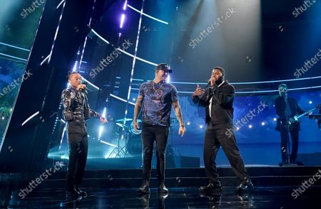 Stock Image of Swae Lee, Kane Brown, and Khalid perform during the 2020 Billboard Music Awards held at the Dolby Theatre in Hollywood, CA. (Andrew Gombert / Los Angeles Times)