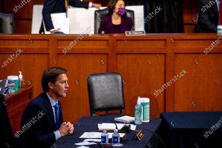 United States Senator Ben Sasse (Republican of Nebraska) asks questions during the third day of the confirmation hearings for Judge Amy Coney Barrett to be Associate Justice of the Supreme Court replacing the late Ruth Bader Ginsburg before the US Senate Committee on the Judiciary on Capitol Hill in Washington, DC.