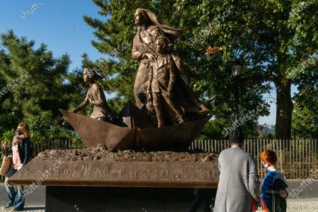 Editorial image of Mother Cabrini statue unveiled in Battery Park City, US - 14 Oct 2020