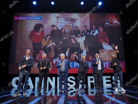 Stock Photo of Harold Valentin, Gregory Montel, Marc Fitoussi, Dominique Besnehard, Antoine Garceau and Aurelien Larger