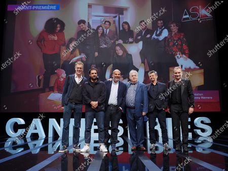 Stock Picture of Harold Valentin, Gregory Montel, Marc Fitoussi, Dominique Besnehard, Antoine Garceau and Aurelien Larger