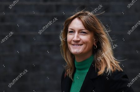 Allegra Stratton arrives at 10 Downing Street in London, Britain, 15 October 2020.