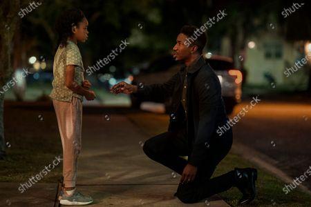 Amanda Christine as Ave and Mamoudou Athie as Nolan