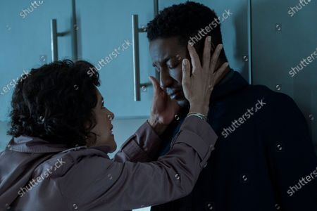 Phylicia Rashad as Dr. Lillian Brooks and Mamoudou Athie as Nolan