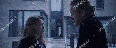 Mireille Enos as Rebecca and Peter Sarsgaard as Jay