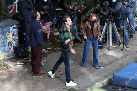 Editorial photo of 'Trying' TV show on set filming, London, UK - 15 Oct 2020