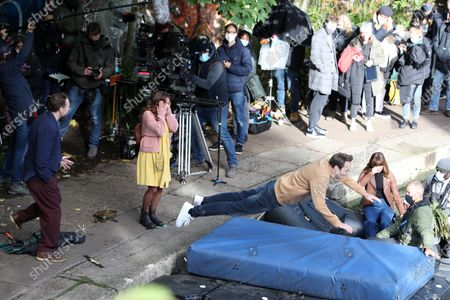 Editorial image of 'Trying' TV show on set filming, London, UK - 15 Oct 2020