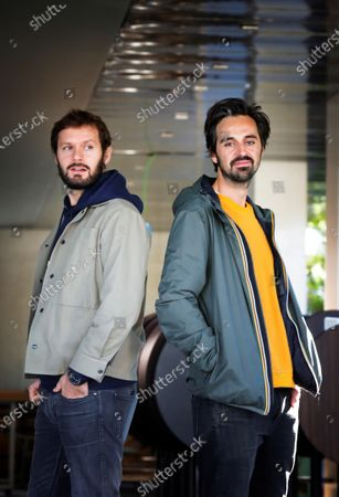 French film director Romain Quirot (R) and actor and cast member Hugo Becker (L) pose for the photographer during the photocall of the film 'Le dernier voyage de Paul W.R' at the 53rd Sitges International Fantastic Film Festival of Catalonia, in Sitges, Spain, 15 October 2020. The festival runs from 08 October to 18 October 2020.
