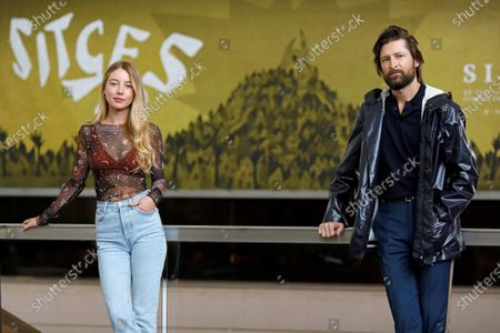 Polish filmmaker Filip Jan Rymsza (R) and Spanish actress Charlotte Vega pose during the presentation of their movie 'Mosquito State' at the 53rd Sitges International Fantastic Film Festival of Catalonia, in Sitges, Spain, 15 October 2020. The festival runs from 08 October to 18 October 2020.
