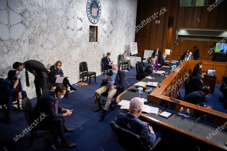 Sen. Charles Grassley, R-Iowa, reviews documents during the confirmation hearing for Supreme Court nominee Amy Coney Barrett, before the Senate Judiciary Committee, on Capitol Hill in Washington