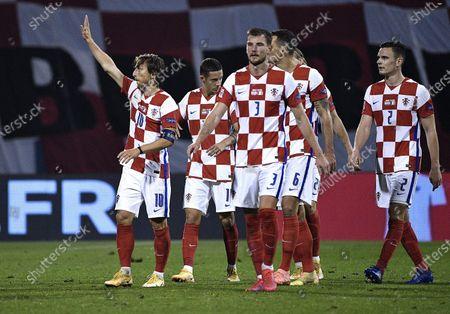 Luka Modric, Antonio Colak, Borna Barisic, Dejan Lovren, Filip Uremovic