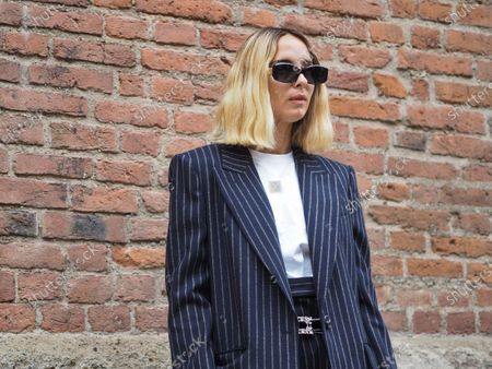 Candela Pelizza street style outfit during Max Mara Fashion Show at Milan Fashion Week Fall/Winter 2020/2021 collections.