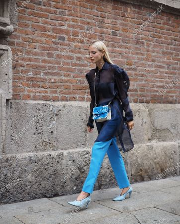 Editorial image of Max Mara street style outfits MFW, Milano, Italy - 15 Oct 2020