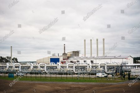 Editorial image of Mecklenburg-Western Pomerania State Premier visits industrial port Lubmin, Germany - 15 Oct 2020