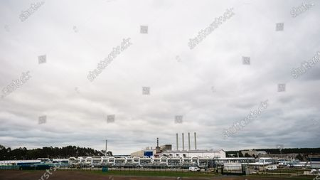 The industrial area, hosting the pipeline landfall of the Nord Stream 2 project, pictured after a visit of Mecklenburg-Western Pomerania State Premier Manuela Schwesig (not in the picture) to the industrial port and the landfall facility of the joint German-Russian pipeline project Nord Stream 2, in Lubmin, Germany, 15 October 2020. The politically controversial pipeline project was put into question in response to the alleged poisoning of Kreml critic Alexei Navalny. Schwesig wants to save the gas pipeline that she regards an important infrastructure project.