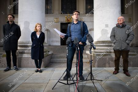 Leader of Oldham Council Sean Fielding , Manchester Metro Mayor Andy Burnham , Deputy Mayor Bev Hughes and Sir Richard Leese hold a press conference in front of Manchester Central Library in St Peter's Square , central Manchester , as negotiations continue regarding placing the city on a Tier 3 lockdown, closing pubs and limiting the ways in which households can mix, in order to reduce the spread of Coronavirus .
