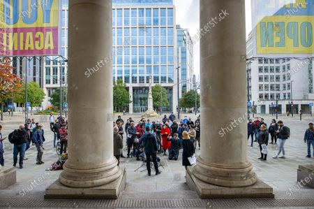 Editorial image of Andy Burnham Press Conference, Manchester, Greater Manchester, UK - 15 Oct 2020