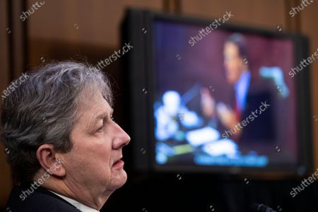 United States Senator John Neely Kennedy (Republican of Louisiana) listens as US Senator Richard Blumenthal (Democrat of Connecticut) delivers remarks during the confirmation hearing for Supreme Court nominee Judge Amy Coney Barrett before the Senate Judiciary Committee on Capitol Hill in Washington, DC, USA, 15. Barrett was nominated by President Donald Trump to fill the vacancy left by Justice Ruth Bader Ginsburg who passed away in September.