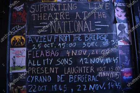 Screening information is displayed at the independent Arthouse cinema in Crouch End in north London, Britain, 15 October 2020. Due to coronavirus restrictions, the Cineworld and Picturehouse cinema chains have closed indefinitely whilst Vue cinemas have cut back screenings. Major films such as the latest James Bond and Death on the Nile have been rescheduled, and Disney showed its latest release Mulan on its streaming service, which has caused concern for the cinema industry trying to bounce back with Covid-19 restrictions. Roisin McNeill is the manager at the independent Arthouse cinema in Crouch End in north London. She says, 'We have cut down our seating from 80 to 40. We thought that business might be quiet, but actually, on weekends, we are sold out. Customers can find it tricky to follow the face mask rules, but we try to make sure everyone is as safe as possible. Blockbusters such as James Bond being pulled from the release is a real problem for multiplexes and big cinema chains. They rely on these big films for business. As a small independent cinema, we have built a loyal customer following and are able to be successful with independent cinema. Hopefully, this means we can weather the storm although there is always the worry about time if there are no films to show. We have a good relationship with the National Theatre playing performances of plays, which there is a big audience for. With streaming services, there is a view that they are the villain taking content away from cinemas - but we show things that go to Netflix or Amazon after a few weeks, and they are popular. Parasite, the Irishman, and Fleabag all went to streaming services but were good business for the cinema. I don't foresee a time when people don't want to go to the cinema. We get people thinking we won't survive Covid, but we keep positive. There is not much positivity for people, but cinema does the world of good for them. It is great to take people out of the daily life particularly with