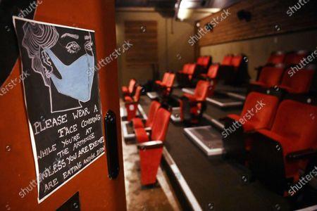 Editorial picture of Cinemas in Britain Amid Coronavirus Pandemic, London, United Kingdom - 15 Oct 2020