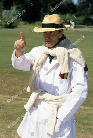 Stock Photo of Series 1 Picture shows - Michael Culver as Sir George Bluff-Gore as umpire