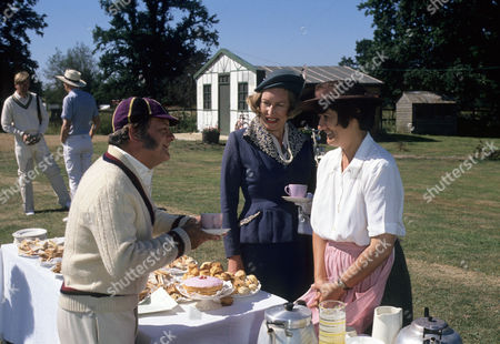 Series 1 Picture shows - David Jason as Pop Larkin having cricket tea with Richenda Carey as Lady Bluff-Gore and Rachel Bell as Edith Pilchester