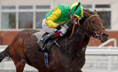 Stock Image of EAGLES DARE (Oisin Murphy) wins The tote Placepot Your First Bet Nursery Chelmsford