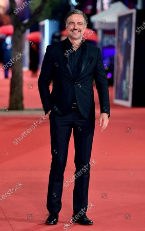 Italian TV host Beppe Convertini arrives for the screening of 'Soul' at the 15th annual Rome International Film Festival, in Rome, Italy, 15 October 2020. The film festival runs from 15 to 25 October.