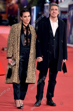 Pierfrancesco Diliberto alias Pif (R) and his partner arrive for the screening of 'Soul' at the 15th annual Rome International Film Festival, in Rome, Italy, 15 October 2020. The film festival runs from 15 to 25 October.