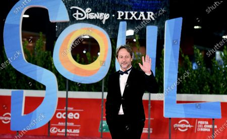 Stock Picture of Rome Deputy Mayor, Luca Bergamo, arrives for the screening of 'Soul' at the 15th annual Rome International Film Festival, in Rome, Italy, 15 October 2020. The film festival runs from 15 to 25 October.