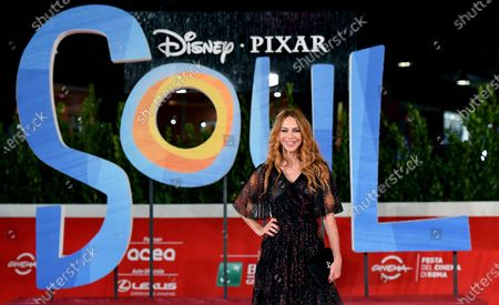 Yvonne Scio arrives for the screening of 'Soul' at the 15th annual Rome Film Festival, in Rome, Italy, 15 October 2020. The film festival runs from 15 to 25 October.
