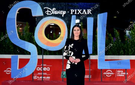 Paola Turani arrives for the screening of 'Soul' at the 15th annual Rome Film Festival, in Rome, Italy, 15 October 2020. The film festival runs from 15 to 25 October.