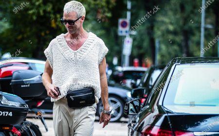 Editorial photo of Street Style, Spring Summer 2021, Milan Fashion Week, Italy - 25 Sep 2020