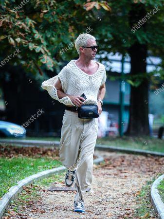 Editorial image of Street Style, Spring Summer 2021, Milan Fashion Week, Italy - 25 Sep 2020