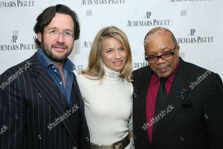 Francois-Henry Bennahmias, Alice Riese  and Quincy Jones