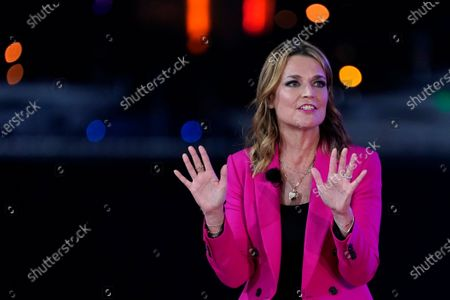 Stock Photo of Moderator Savannah Guthrie speaks during an NBC News Town Hall with President Donald Trump at Perez Art Museum Miami, in Miami