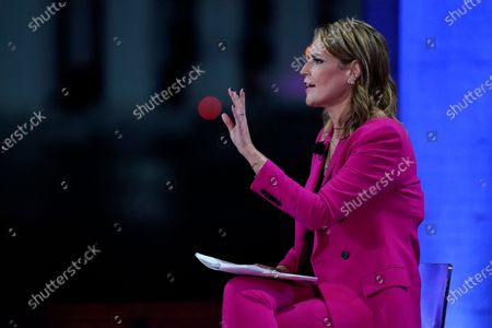 Moderator Savannah Guthrie speaks during an NBC News Town Hall with President Donald Trump at Perez Art Museum Miami, in Miami