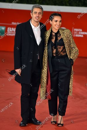 Stock Image of Pierfrancesco Diliberto and Girlfriend