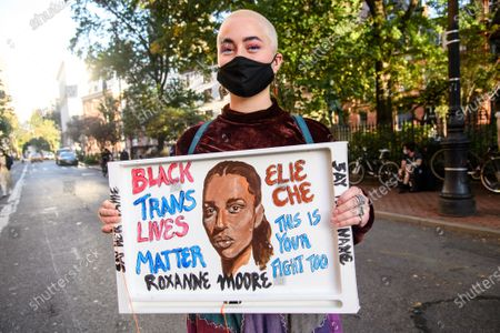 Editorial image of Protesters Gather For The 'Black Angels Ball' in NYC, New York, USA - 15 Oct 2020