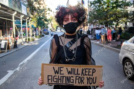 Editorial picture of Protesters Gather For The 'Black Angels Ball' in NYC, New York, USA - 15 Oct 2020