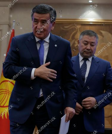 Editorial picture of Kyrgyz parliamentary session after president's resignation, Bishkek, Kyrgyzstan - 16 Oct 2020
